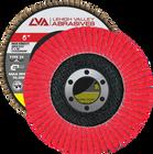 "6"" x 7/8"" Ceramic High Density Flap Disc Type 29 Conical | 36 Grit T29 | LVA CFCAS60J036CP"