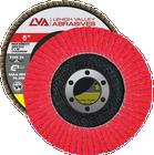 "6"" x 7/8"" Ceramic High Density Flap Disc Type 29 Conical | 40 Grit T29 | LVA CFCAS60J040CP"