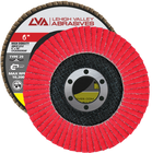 "6"" x 7/8"" Ceramic High Density Flap Disc Type 29 Conical | 120 Grit T29 | LVA CFCAS60J120CP"