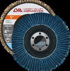 "5"" x 7/8"" Zirconia Flap Disc Type 29 Conical | 60 Grit T29 | LVA CFCAS50S060ZX"