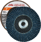 "4"" x 3/8""-24 Threaded Zirconia Flap Disc Type 27 Flat 