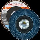 "4.5"" x 5/8""-11 Threaded Zirconia Flap Disc Type 27 Flat | 80 Grit T27 | LVA CFFAS45S080ZC"