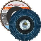 "4.5"" x 5/8""-11 Threaded Zirconia High Density Flap Disc Flat | 80 Grit T27 | LVA CFFAS45J080ZX"