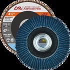 "4.5"" x 5/8""-11 Threaded Zirconia High Density Flap Disc Flat | 120 Grit T27 | LVA CFFAS45J120ZC"