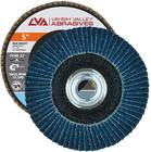 "5"" x 5/8""-11 Threaded Zirconia High Density Flap Disc Flat 