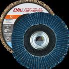 "5"" x 5/8""-11 Threaded Zirconia High Density Flap Disc Type 27 Flat | 40 Grit T27 | LVA CFFTS50J040ZX"
