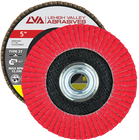 "5"" x 5/8""-11 Threaded Ceramic Flap Disc Type 27 Flat 