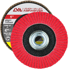 "6"" x 5/8""-11 Threaded Ceramic Flap Disc Type 27 Flat 