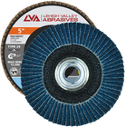 "5"" x 5/8""-11 Threaded Zirconia High Density Flap Disc Conical 