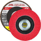 "4.5"" x 5/8""-11 Threaded Ceramic Flap Disc Type 29 Conical 