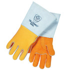 Medium Gold Elkskin Stick Welding Gloves | Tillman 850M