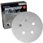 """5"""" 5 Hole Rhynogrip Hook & Loop Discs (Box of 50)   220 Grit AO Plus   Indasa 54-220"""