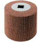 4 x 4 x 3/4 In. Quad-Keyway Non-Woven Nylon Abrasive Flap Wheel Drum / Roll   P400 Grit   Metabo 623468000
