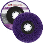 """4-1/2"""" x 7/8"""" Non-Woven Fiberglass Backed T27 Clean & Strip Disc (Purple / Ultra Coarse)"""