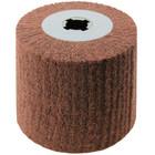 4 x 4 x 3/4 In. Quad-Keyway Non-Woven Nylon Abrasive Flap Wheel Drum / Roll   Medium Grade   Wendt 323781