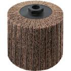 4 x 4 x 5/8-11 In. Threaded Interleaf Flap Wheel Drum / Roll   Medium / 120 Grit   Wendt 323454
