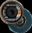 "4-1/2"" x 5/8""-11 Zirconia Threaded Trimmable Flap Disc Type 27 Flat   120 Grit T27   LVA CFFAT45S120ZC"