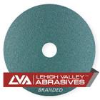 """9.250"""" x 7/8"""" Premium Resin Fiber Discs (Box Qty: 25)   24 Grit Zirconia   LVA  RF94ZA-024LVA"""