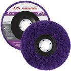 """4"""" x 7/8"""" Non-Woven Fiberglass Backed T27 Clean & Strip Disc (Purple / Ultra Coarse)"""
