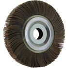 "8"" x 1"" x 1"" Flap Wheel on Flange | 40 Grit Aluminum Oxide | LVA FW800100D040AO"