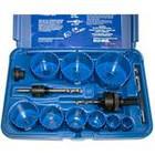 9 piece Locksmith's Hole Saw Kit | Blu-Mol Bi-Metal