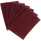 "6"" x 9"" Hand Pad Non-Woven General Purpose A/O Medium Very Fine (Maroon) 