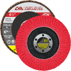 "4.5"" x 7/8"" Ceramic Flap Disc Type 29 Conical 