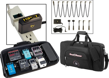NEW Road Runner Pedal Board with Bag and Visual Sound 1 Spot Combo Pack