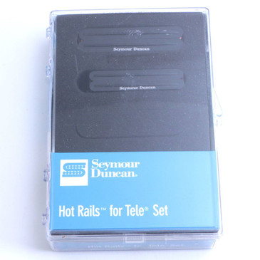 Seymour Duncan Hot Rails For Tele Guitar Pickup Set Black