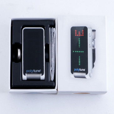 NEW! TC Electronic Polytune Clip-On Guitar Tuner Silver