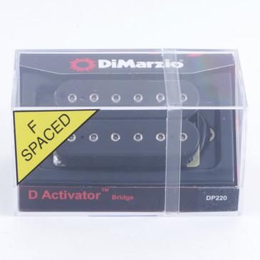 DiMarzio DP220 D-Activator Bridge Humbucker Guitar Pickup F-Spaced Black