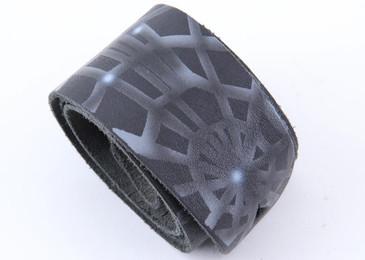 "Black and Gray Spiderweb Design Guitar Strap 2 1/2"" Wide  OS-5677"
