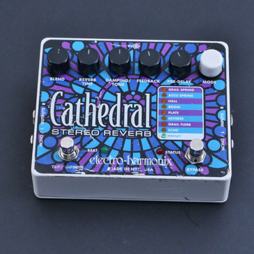 Electro-Harmonix Cathedral Stereo Reverb Guitar Effects Pedal P-06697