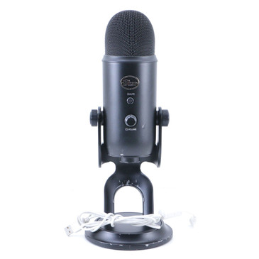 Blue Yeti Blackout Condenser Multi-Pattern USB Microphone MC-3105