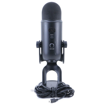 Blue Yeti Blackout Condenser Multi-Pattern USB Microphone MC-3102