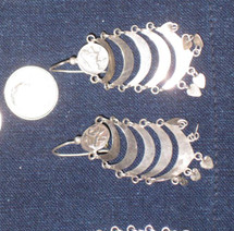 Mayan Antique Silver Earrings #31