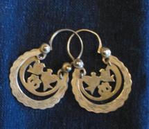 Mayan Brass Antique Earrings #27