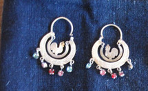 Mayan Antique Silver Earrings #16