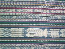 Corte #26 -- Woman's Indigo blue Ikat