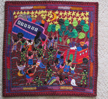 "Art Embroidery Panel ""Los Delincuentes"""