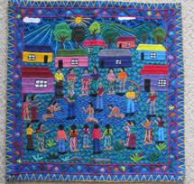 "Art Embroidery Panel ""Castigo Maya"""