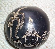 Etched Souvenir Gourd #1