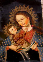 Madonna and Child #2 -- Cusco School Painting
