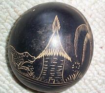 Etched Souvenir Gourd #3
