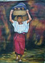 Adonias Mendoza -- Woman from Santiago Atitlan