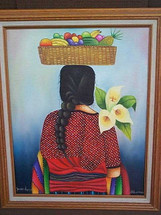 """Espalda"" -- woman at market"