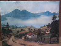 Bayron Xocop Painting Lake Atitlan