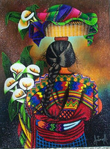 Antonio Morales -- Espalda with Lilies #2