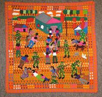 """Art Embroidery Panel """"La Violencia"""" #1"""