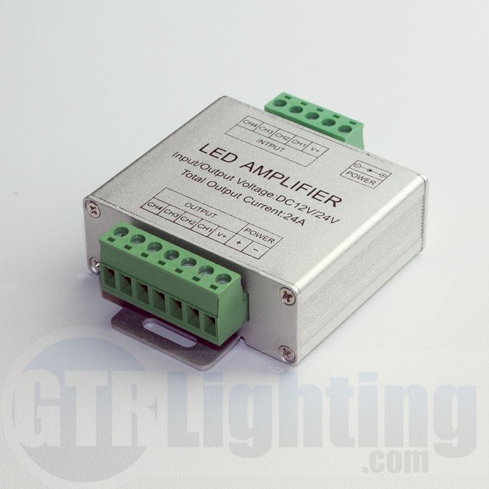 GTR Lighting In-Line LED Strip 288W Signal Booster for RGB Flexible Strip Lights